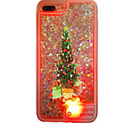 Per Custodia iPhone 7 Custodia iPhone 7 Plus Custodia iPhone 6 Custodie cover Liquido a cascata Con LED Traslucido Custodia posteriore