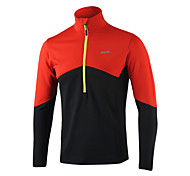 ARSUXEO Men's  Long Sleeve Half Zipper Run Top Training Jersey
