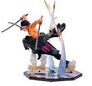 Figuras de Ação Anime Inspirado por One Piece Roronoa Zoro Anime Acessórios de Cosplay figura Preto PVC