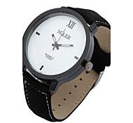 Men's Wrist watch Quartz Leather Band Black Brand