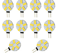 Bright Round G4 LED Bulb 3W 15 SMD 5730 for Car RV Indoor Warm / Cool White 12-24V DC(10 pieces)