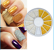 1pcs 3D Nail Tip Decoration Gold Silver Caviar Steel Mini Beads for Manicures or Pedicures
