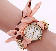 Women Cloth Point Belt Dress Watches Fashion Simple European Style Ladies Watches Bracelet Watch Watch Women Casual
