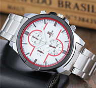 Men's Sport Watch Dress Watch Fashion Watch Wrist watch Quartz Stainless Steel Band Casual White Brand