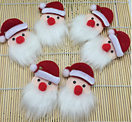 6PCS Cloth Art Supplies Accessories Doll Santa Head Children Socks 6 * 9 Christmas Decorations