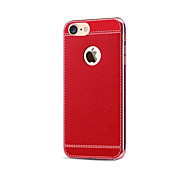 For iPhone 7 Case / iPhone 7 Plus Case / iPhone 6 Case Plating Case Back Cover Case Solid Color Soft PU Leather AppleiPhone 7 Plus /