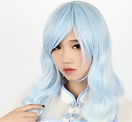 Lolita Wigs Sweet Lolita Color Gradient Curly Blue Lolita Wig 70cm CM Cosplay Wigs Wig For Women