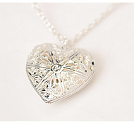 Women's Pendant Necklaces / Sterling Silver Heart Heart Silver Jewelry Daily Casual Valentine 1pc