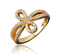 Birthday Gift Girl's Gold Plating Brand Ring