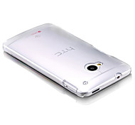 For HTC Case Ultra-thin / Transparent Case Back Cover Case Solid Color Hard PC HTC