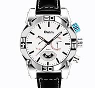 Men's Wrist watch Quartz Noctilucent Genuine Leather Band Cool Casual Black White Blue Brown Brand