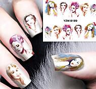 1pcs Modern Lady Watermark Nail Stickers Nail Art Design