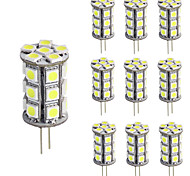 Dimmable G4 Led 5050 SMD Bulb 12V DC for Home Chandelier RV Cool/Warm White (10 Pieces)