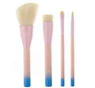 4 pcs Makeup Brushes Set Professional Blush/Foundation/ Eye Shadow Brush  Portable Laptop Model Brush