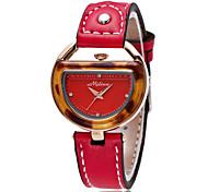 Women's Wrist watch Quartz Genuine Leather Band Black Red Brown Beige Brand