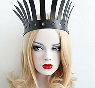 Accessori per capelli Ispirato da Cosplay Cosplay Anime Accessori Cosplay Accessori per capelli Nero Pelle Donna