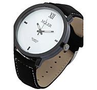 Men's Women's Wrist watch Quartz Leather Band Black Brand