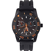 Men's Fashion Watch Quartz / Silicone Band Casual Black Brand