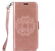 Для Кошелек Рельефный Кейс для Чехол Кейс для Цветы Твердый Искусственная кожа для Motorola MOTO G4 Мото G4 Plus