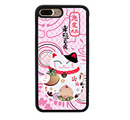 Chinese New Year Lucky Cat Pattern  TPU Material Phone Case for iPhone 7 7 Plus 6s 6 Plus