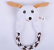 Dog Toy Pet Toys Plush Toy Durable Gray Cotton