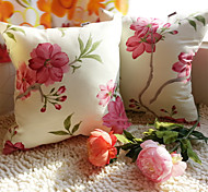 1 PC Algodón Funda de almohada,Floral / A Rayas Antiguo / Tradicional/Clásico