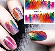 1pcs Abstract Watercolor Pattern Watermark  Nail Stickers Nail Art Design