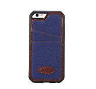 For Apple iPhone 6s Plus / iPhone 6s / iPhone 6 Plus / iPhone 6 / Case Cover The Denim with TPU Frame