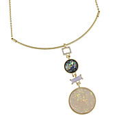 New Model Colorful Round Rhinestone Pendant Necklaces