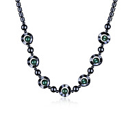 2016 New Noble Women Vintage Green Natural Iron Stone Circle Chain Necklaces Jewelry Gifts