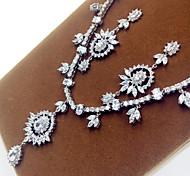 Women's Jewelry Set Zircon Cubic Zirconia Necklaces Earrings For Party Wedding Gifts