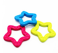 Cat Toy Dog Toy Pet Toys Chew Toy Teeth Cleaning Toy Star Random Color Rubber