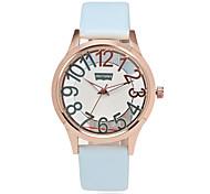 Women's Wrist watch Simulated Diamond Watch Quartz PU Band Black White Blue Red Pink Strap Watch