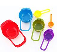 6 conjuntos de medição de cor medidor de cozinha colher