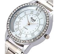 Women's Fashion Watch Wrist watch Simulated Diamond Watch Quartz Alloy Band Silver Gold Rose Gold