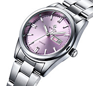 Women's Fashion Watch Water Resistant / Water Proof Quartz Stainless Steel Band Charm Casual Luxury Silver