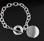 Bracelet Chain Bracelet Sterling Silver Others Friendship Gift / Daily / Casual Jewelry Gift Silver,1pc