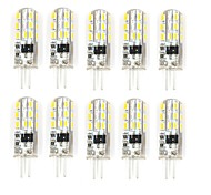 10 Pcs Con Cable Others G4 24 led Sme3014 1.5W AC220-240 v 350 lm Warm White Cold White Double Pin Waterproof Lamp Other