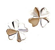 2016 Korean Unisex 925 Silver Sterling Silver Jewelry Zircon Earrings Lucky Clover Stud Earrings 1Pair