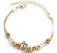 Bracelet Chain Bracelet Sterling Silver Others Friendship Gift / Daily / Casual Jewelry Gift Gold,1pc