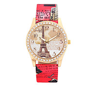 Women's Wrist watch Quartz PU Band White Red Brown Grey