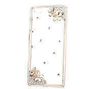 DIY Attractive Flowers with Rhinestone Pattern PC Hard Case for Multiple Huawei P8 Lite Honor 8 Mate 7 8 9