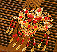 Classic/Traditional Headwear Vintage Inspired Golden For Women Alloy Spring Festival/New Year 1pc Hairpin