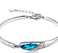 Bracelet Chain Bracelet Sterling Silver Irregular Nature Gift Valentine Jewelry Gift Blue,1pc