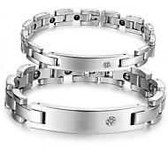 Paar Ketten- & Glieder-Armbänder Stahl Schmuck Silber Schmuck Für Normal 1 Stück