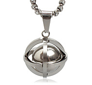 Men's Punk Style Pendant Charm Necklace 316L Stainless Steel Retro Planet Shape Jewelry