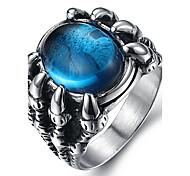 Муж. Массивные кольца Кольцо Мода бижутерия Драгоценный камень Титановая сталь Бижутерия Назначение Повседневные