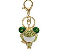 The popular diamond key pendant shape face big frog