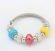 Women's Strand Bracelet Alloy Fashion Inspirational Orange Dark Blue Red Light Blue Jewelry 1pc