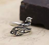 Ring Jewelry Sterling Silver Peacock Matte Silver Jewelry Daily Casual 1pc